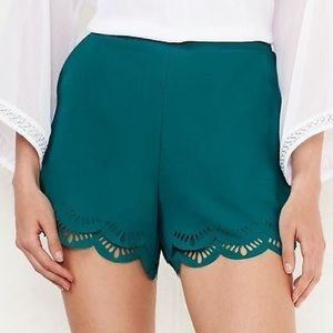 LC Swept Ashore Double Scallop Teal Shorts M